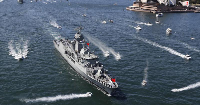 Обграден боен руски кораб