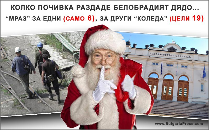 Почивни дни за Коледа и Нова Година 2016 - 2017
