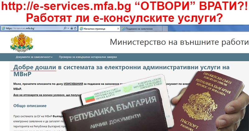 е-консулски услуги постер
