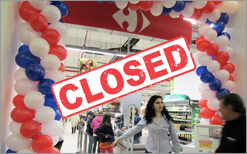 Pleven-Carrefour-closed